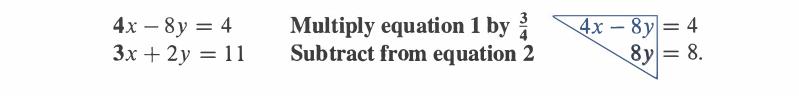 Upper triangular form of equation